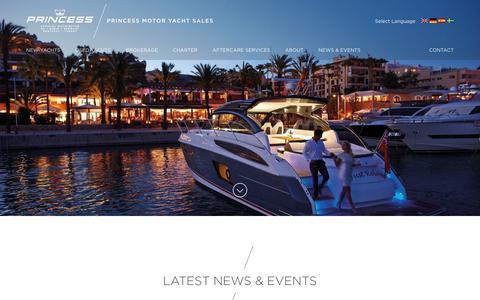 Screenshot of Press Page princess.co.uk - News & Events - Princess Motor Yacht Sales - captured Sept. 29, 2018