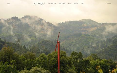 Screenshot of Home Page araujoestate.com - Araujo Estate - captured Dec. 18, 2014