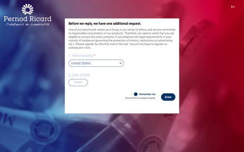 Site visits | Pernod Ricard, conviviality creators