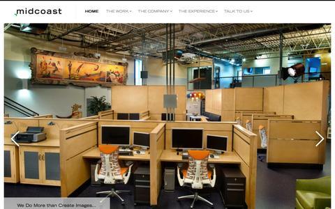 Screenshot of Home Page midcoaststudio.com - Midcoast   CGI Studio   3D Studio   Commercial Photography   Post Production - captured Sept. 30, 2014