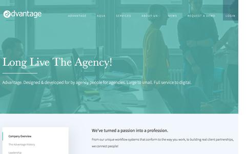 Screenshot of About Page gotoadvantage.com - Company Profile | Agency Software Experts - captured Feb. 5, 2016