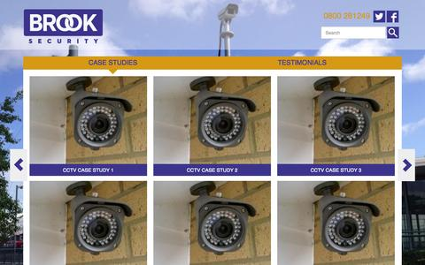 Screenshot of Case Studies Page brooksecurity.com - Home Security Systems | Business Security Systems | Brook Security - captured Oct. 5, 2014