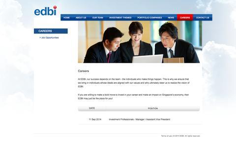 Screenshot of Jobs Page edbi.com - EDBI - captured Oct. 1, 2014