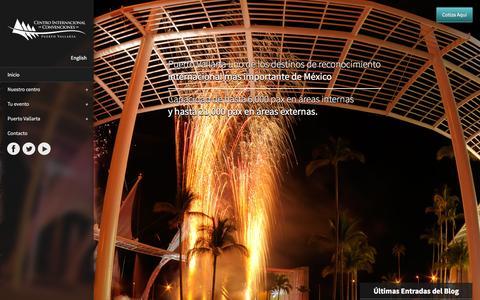 Screenshot of Home Page cicpuertovallarta.com - Centro Internacional de Convenciones de Puerto Vallarta - captured Jan. 26, 2016