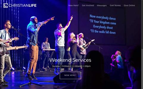 Screenshot of Home Page christianlife.org - Christian Life Church | Chester, Virginia (Chesterfield, Richmond) - captured Nov. 5, 2016