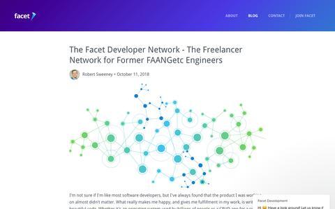 Screenshot of Blog facetdev.com - Facet Development says… - captured Nov. 10, 2018