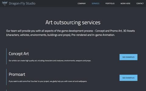 Screenshot of Services Page dragon-fly.biz - Services | DragonFly Studio - captured Nov. 24, 2016