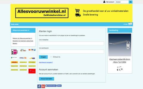 Screenshot of Login Page allesvooruwwinkel.nl - Welkom bij Allesvooruwwinkel.nl | Allesvooruwwinkel.nl - captured Nov. 24, 2016