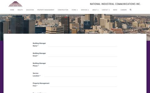 Screenshot of Services Page nici.mb.ca - Services | NICI | Winnipeg - captured Oct. 19, 2018