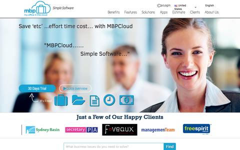 Screenshot of Contact Page mbpcloud.com - MBPCloud | Manage your Business in Cloud | Online Purchase Order System | Contract         Management | Document Management | Timesheet & Roster Management System - captured Oct. 29, 2014