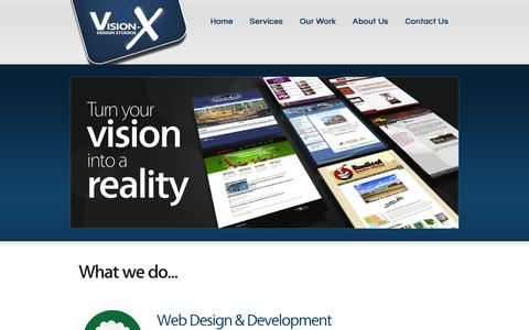 Screenshot of Services Page visionxweb.com - Web Design and Management Services | Vision-X Design Studios - Timmins, ON - captured Oct. 28, 2014