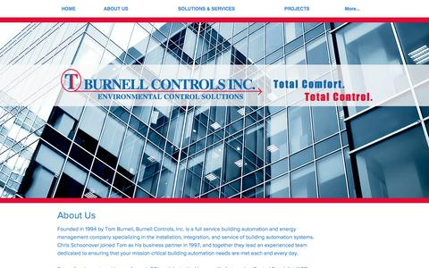Screenshot of About Page burnellcontrols.com - Burnell Controls Inc., Environmental Control Solutions, About Us - captured Oct. 11, 2017