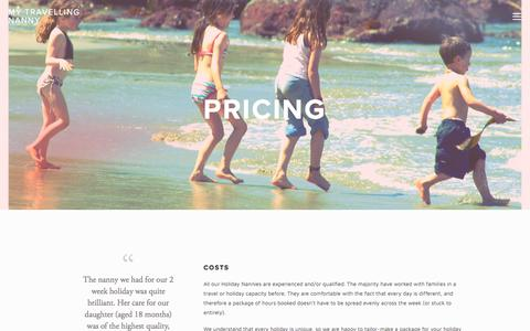 Screenshot of Pricing Page mytravellingnanny.co.uk - Pricing — My Travelling Nanny - captured April 25, 2018