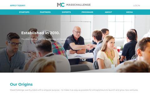 Screenshot of About Page masschallenge.org - About | MassChallenge - captured May 17, 2018
