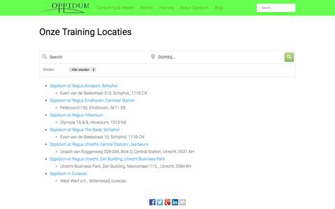 Screenshot of Locations Page oppidum.eu - Onze Training Locaties Đ Oppidum - captured Jan. 11, 2016