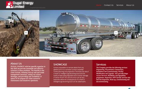 Screenshot of Home Page dugalenergy.com - Home - captured Feb. 9, 2016