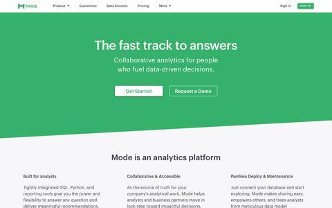 Mode - The Collaborative Analytics Platform for Data Analysts