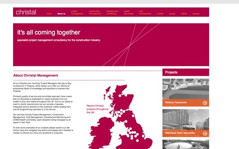 Screenshot of About Page christalmanagement.co.uk - About Christal - specialist project management consultancy - captured Oct. 28, 2014