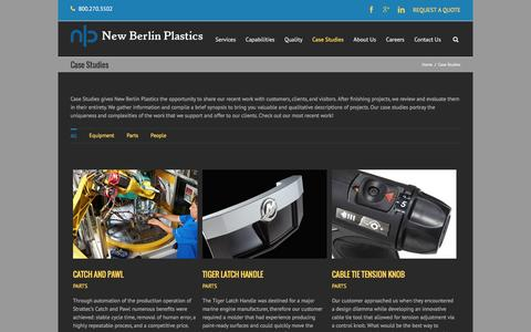 Screenshot of Case Studies Page nbplastics.com - Case Studies | New Berlin Plastics - captured Feb. 14, 2016