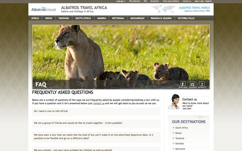 Travel FAQ Pages on Drupal | Website Inspiration and Examples | Crayon