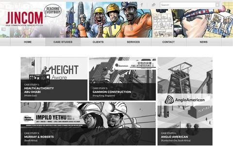 Screenshot of Case Studies Page jincom.com - Jincom     Case Studies - captured Oct. 6, 2014