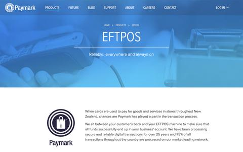 Screenshot of Products Page paymark.co.nz - EFTPOS » Paymark - captured July 16, 2018