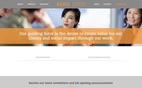 Screenshot of Services Page koyapartners.com - Services | Koya Partners - captured Nov. 27, 2016