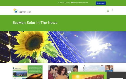 Screenshot of Press Page ecomensolar.com - News - EcoMen Solar - captured Nov. 4, 2018