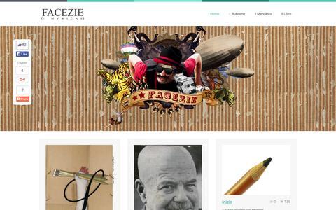 Screenshot of Home Page facezie.com - Facezie e Myricae - captured Oct. 14, 2015