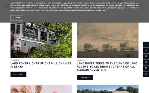 Screenshot of Press Page landroverkenya.com - News | Land Rover Kenya - captured Oct. 18, 2018