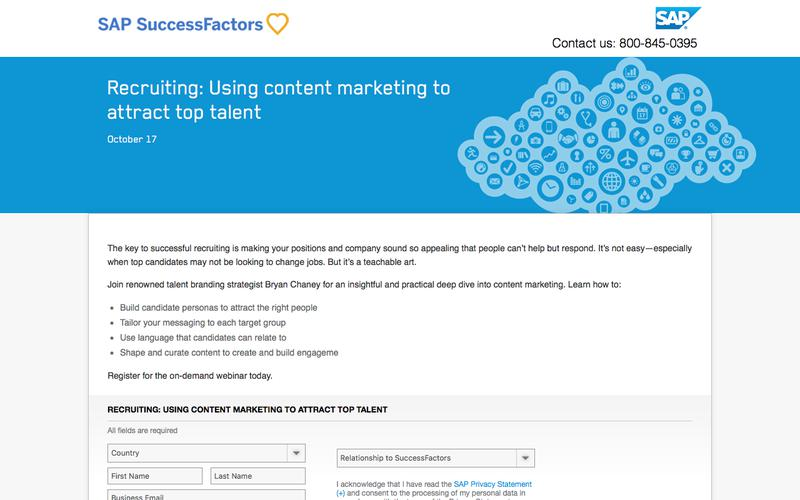Using content marketing to attract top talent             | SuccessFactors