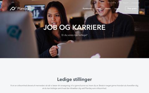Screenshot of Jobs Page planday.com - Job og karriere hos Planday - captured Nov. 18, 2017