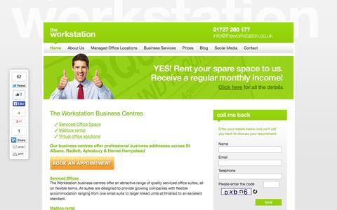 Screenshot of Home Page theworkstation.co.uk - Best serviced & virtual offices in St Albans   The Workstation - captured Oct. 9, 2014