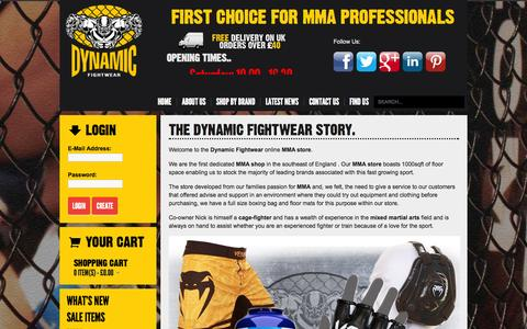 Screenshot of About Page dynamicfightwear.co.uk - MMA Equipment | MMA Shop - Dynamic Fightwear - captured Oct. 7, 2014