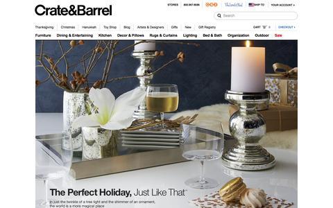 Screenshot of Home Page crateandbarrel.com captured Nov. 19, 2015