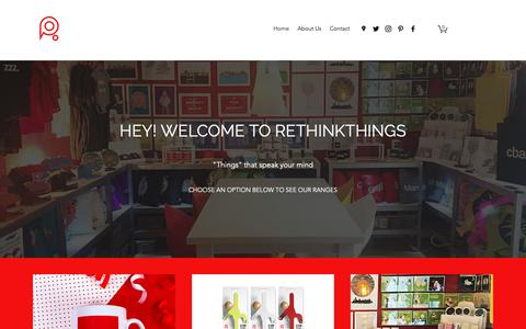 Screenshot of Home Page rethinkthings.com - Rethinkthings Liverpool - Customised gifts and ranges - captured Dec. 10, 2018