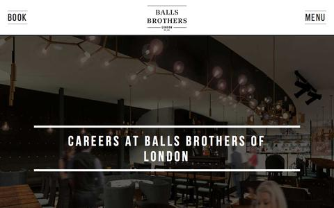 Screenshot of Jobs Page ballsbrothers.co.uk - Careers - Balls Brothers - captured Jan. 26, 2018