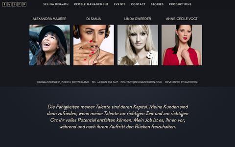 Screenshot of Team Page selinadermon.com - People Management - Selina Dermon vermittelt ihnen Persönlichkeiten mit Fähigkeiten - captured Nov. 24, 2016