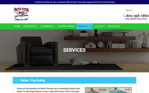 Screenshot of Services Page prestigesystems.net - Services - Prestige Systems, LLC - captured Dec. 15, 2018