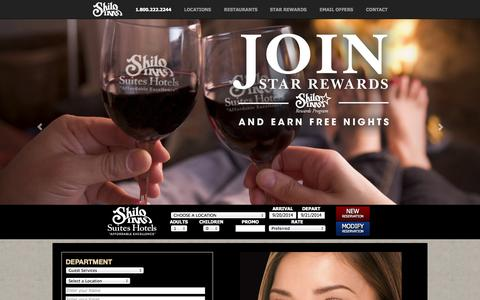 Screenshot of Contact Page shiloinns.com - Contact Shilo Inns Suites Hotels Customer Support | Shilo Inns Suites Hotels, Affordable Excellence - captured Sept. 22, 2014