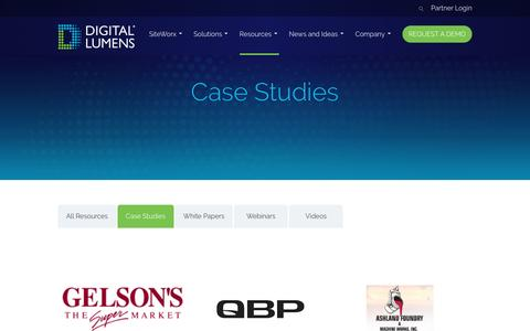 Screenshot of Case Studies Page digitallumens.com - Case Studies - Digital Lumens - captured March 1, 2017