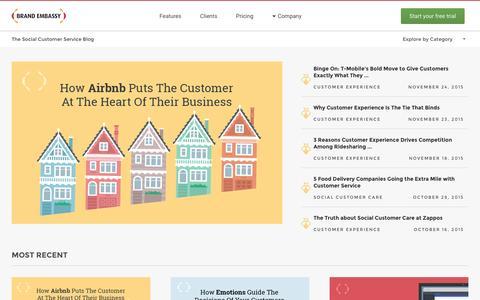 Screenshot of Blog brandembassy.com - The Social Customer Service Blog   Brand Embassy - captured Dec. 4, 2015