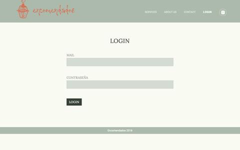 Screenshot of Login Page encomendados.es - Encomendados - captured Nov. 13, 2018