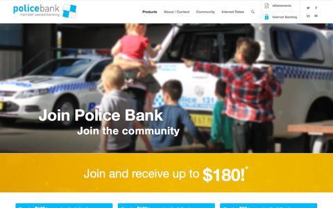Screenshot of Signup Page policebank.com.au - Police Bank | Join - captured Oct. 20, 2015
