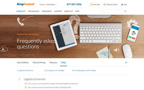 RingCentral Professional FAQs