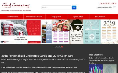Screenshot of Home Page card-company.co.uk - 10% off 2018 personalised Christmas cards and 2019 calendars from The Card Company UK - captured Oct. 18, 2018