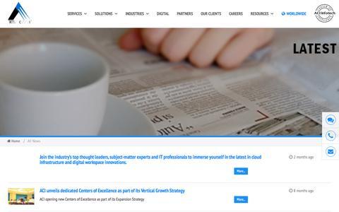 Screenshot of Press Page aciinfotech.com - News – ACI Infotech - captured May 28, 2017