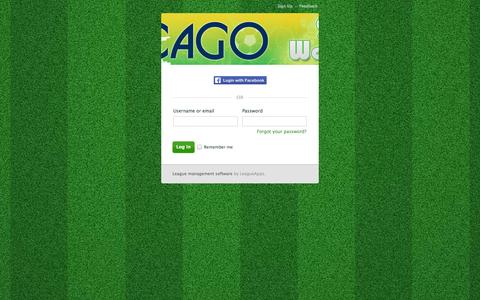 Screenshot of Login Page leagueapps.com - Login : Chicago World Cup - captured Sept. 22, 2014