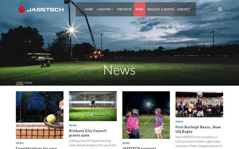Screenshot of Press Page jasstech.com.au - News - Jasstech Lighting Solutions Australia - captured Oct. 1, 2018