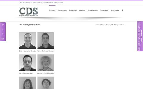 Screenshot of Team Page crystal-display.com - Our Management Team | Crystal Display Systems - captured Sept. 30, 2018